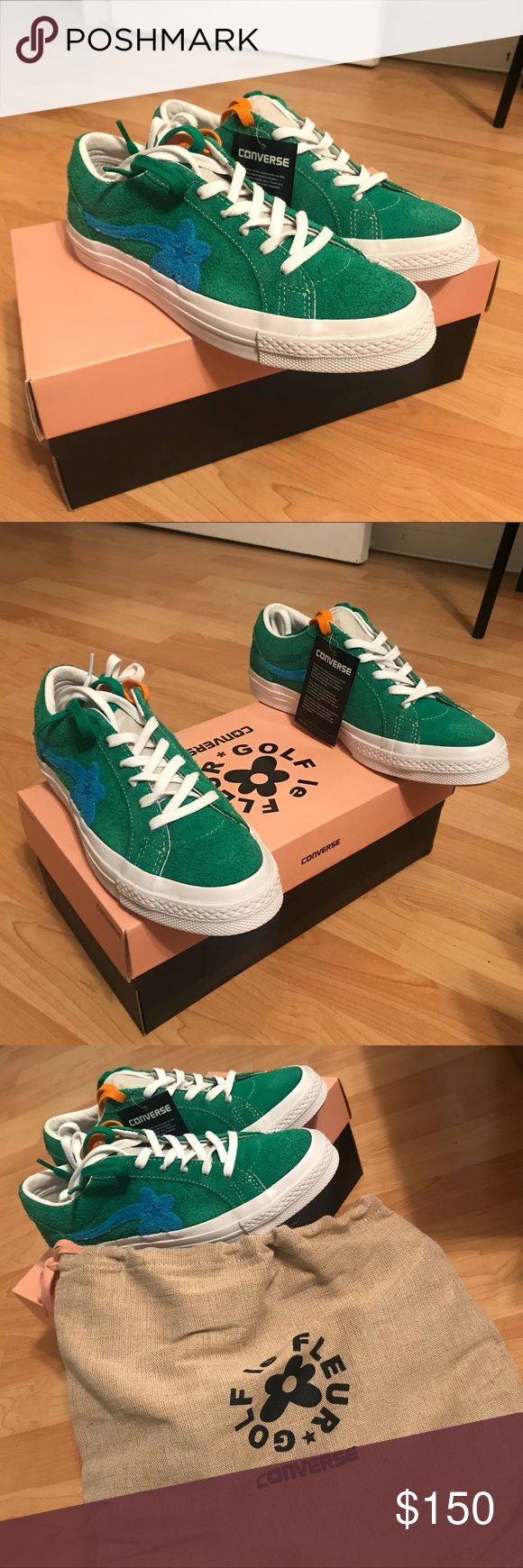 Converse Golf Le Fleur Unos Jolly Green BRAND NEW WITH TAGS!! Tyler the Creator x Converse Golf Le Fleur Unos in Green and Blue! These are a MENS 5.5/WOMENS 7.5 but everyone online says these run a half size to full size bigger so I am listing as a WOMENS SIZE 8!!! Comes with original box and dust bag. Never worn ever!! Converse Shoes Sneakers