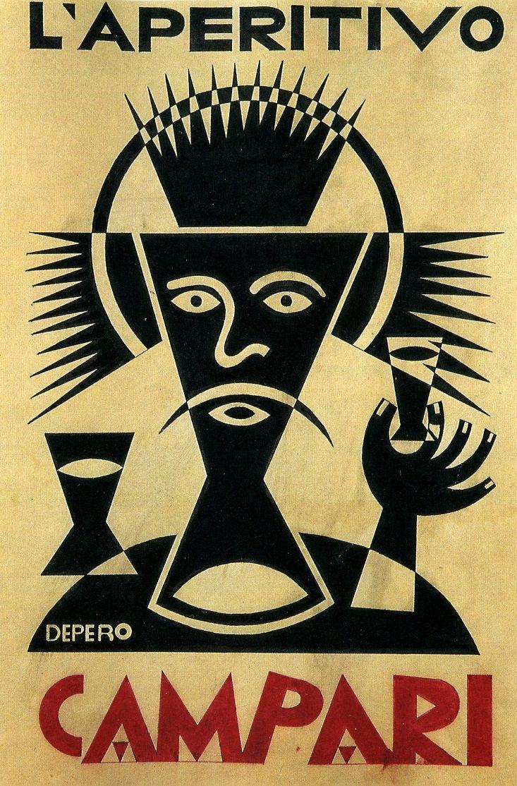 Fortunato Depero, Campari advertisement, 1928