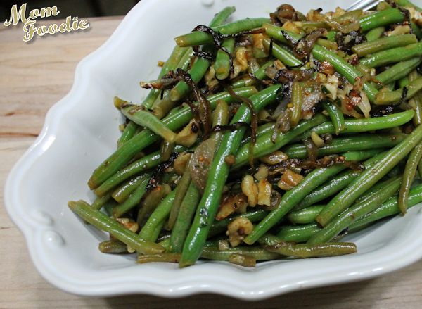 Thanksgiving Green Bean Recipe ~ a culinary Ménage à trois of @Cooking Light green bean recipes