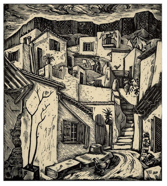 Anafiotika. 1940. Efthimios Papadimitriou.