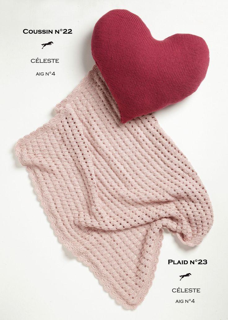 Mod le de tricot coussin et plaid enfant catalogue cheval blanc n 20 laine utilis e - Modele plaid tricot gratuit ...