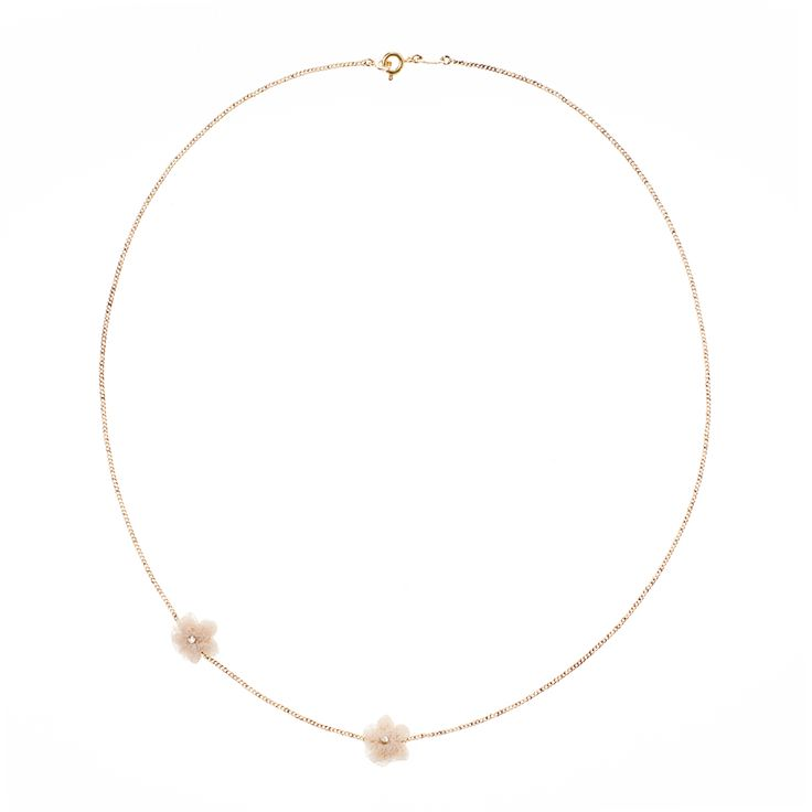 Cécile Boccara's designs evoke timeless elegance and femininity with a touch of flare. Intricately designed on a gold plated base, the Lys necklace evokes timeless charm for the modern woman who is looking for a subtle touch of glamour.