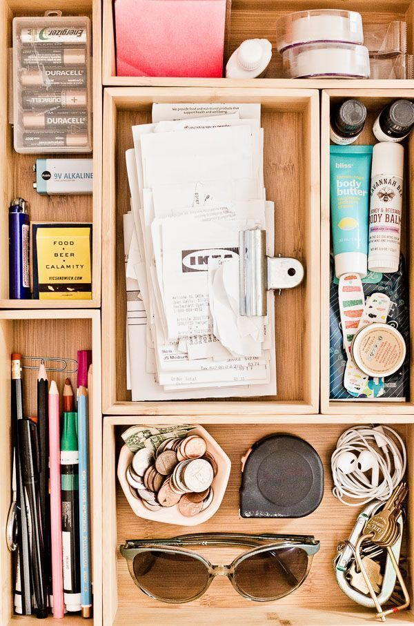 Clutter Control How To Organize Your Junk Drawer Once And For All In 5 Minutes Junk Drawer Organizing Junk Organization Drawer Organizers