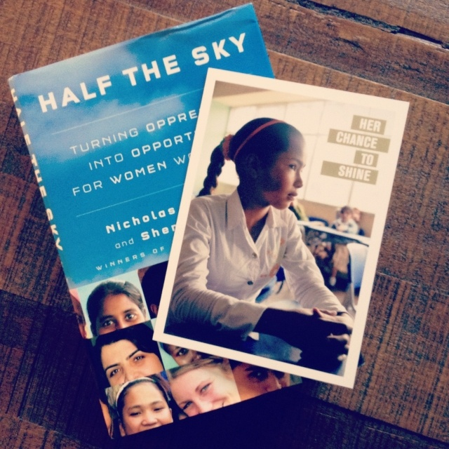 Give the inspiring Half the Sky book with the gift of educating a girl. When girls are educated, family income rises and child malnutrition drops. Help change a girl's life at http://gifts.mercycorps.org/gift/donate-to-educate-a-girl    @Half the Sky Movement  #holidaygifts #giftsthatgive