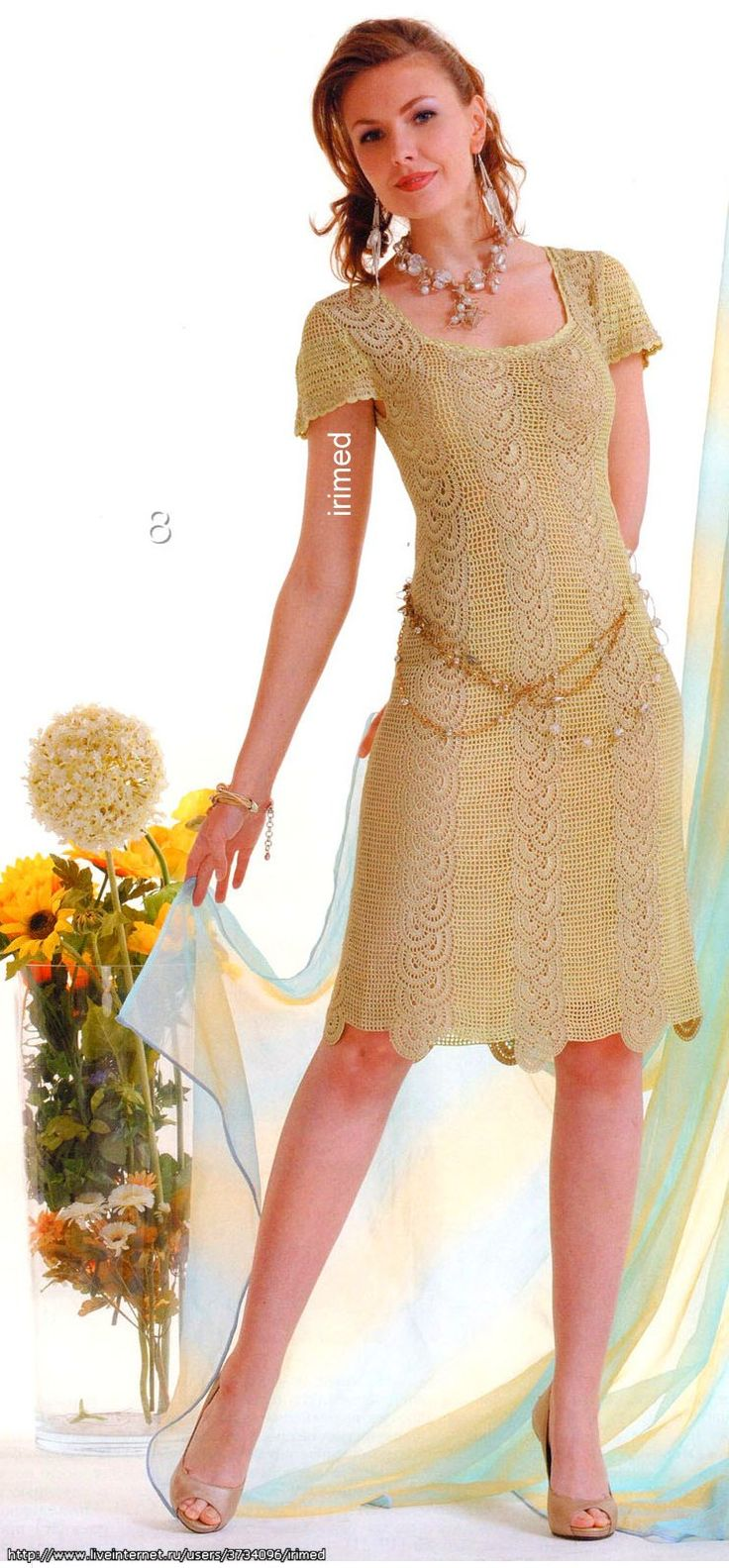 Женское платье флора а1