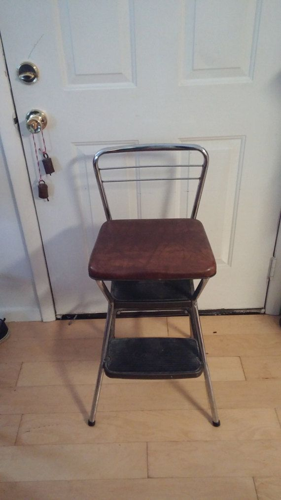 Step Stool Vintage Brown Cosco Step Stool Seat With Flip
