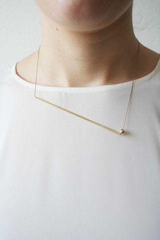 Brass Gold Filled bead & Japanese silk
