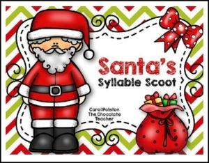 """FREE LANGUAGE ARTS LESSON – """"Santa's Syllable Scoot"""" - Go to The Best of Teacher Entrepreneurs for this and hundreds of free lessons. Kindergarten - 2nd Grade  http://thebestofteacherentrepreneursmarketingcooperative.net/free-language-arts-lesson-santas-syllable-scoot/"""
