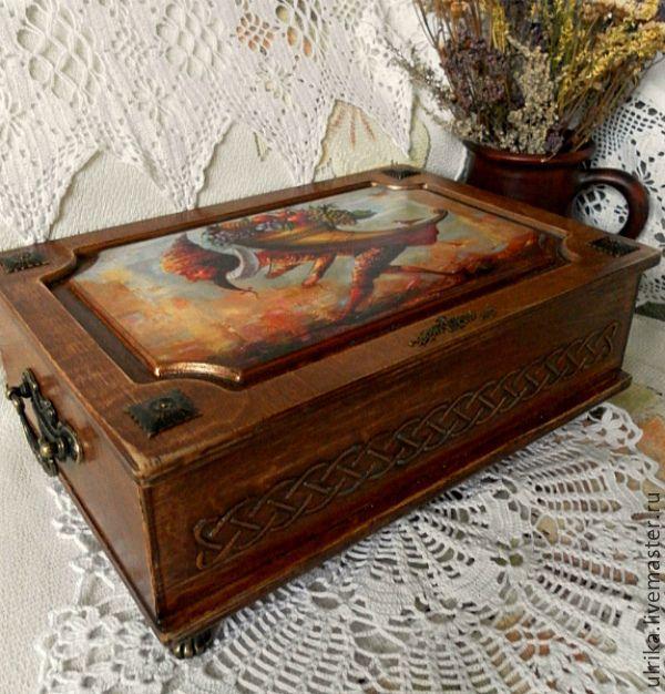 """Набор подарочный для белошвейки """" Наследство"""" - коричневый,рыжий,деревенский стиль"""
