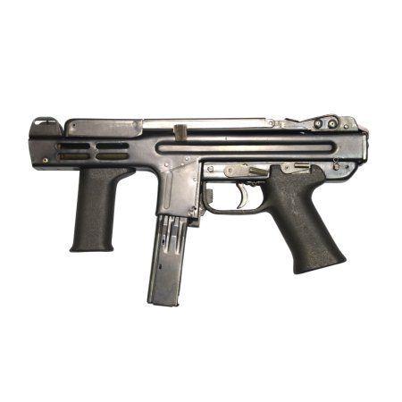 Italian Spectre M4 submachine gun Canvas Art - Andrew ChittockStocktrek Images (35 x 23)