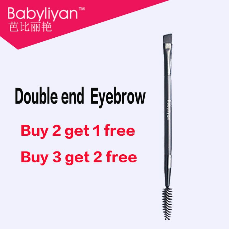 Wholesale 1PCS Makeup tools double eyebrow brush + eyebrow comb and makeup brush good quality babaliyan