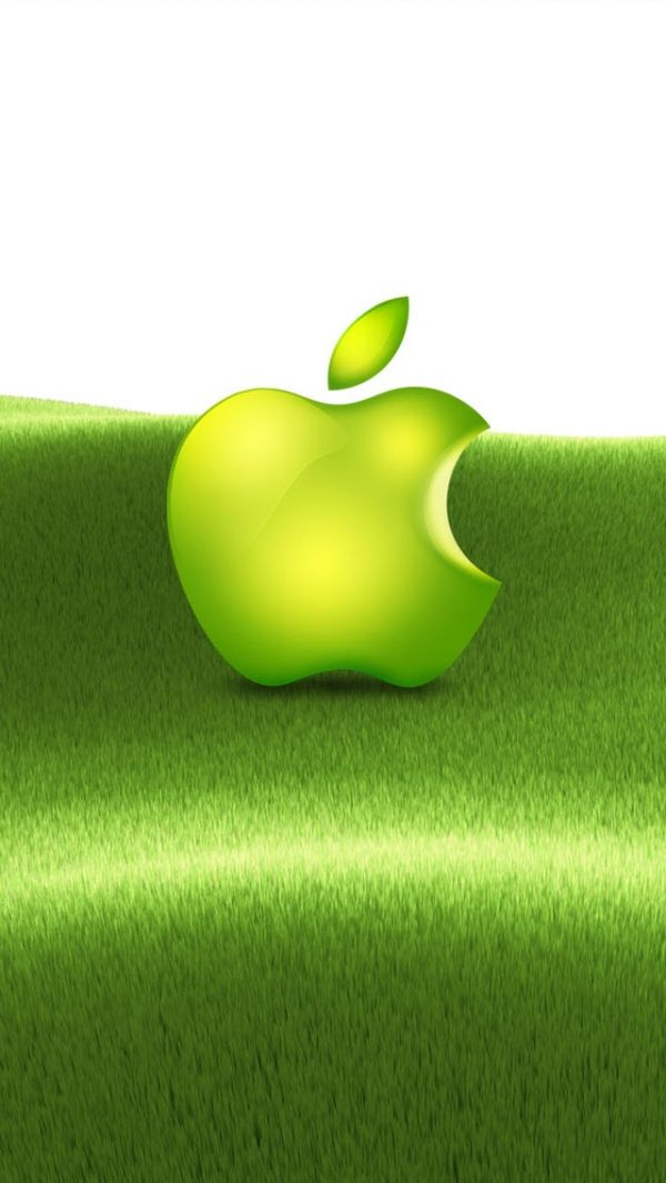 Green Apple Logo Iphone Wallpaper