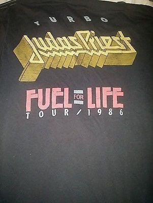 Judas priest Rare Vintage shirt 1986 Turbo Fuel For Life tour LOW bid NO reserve