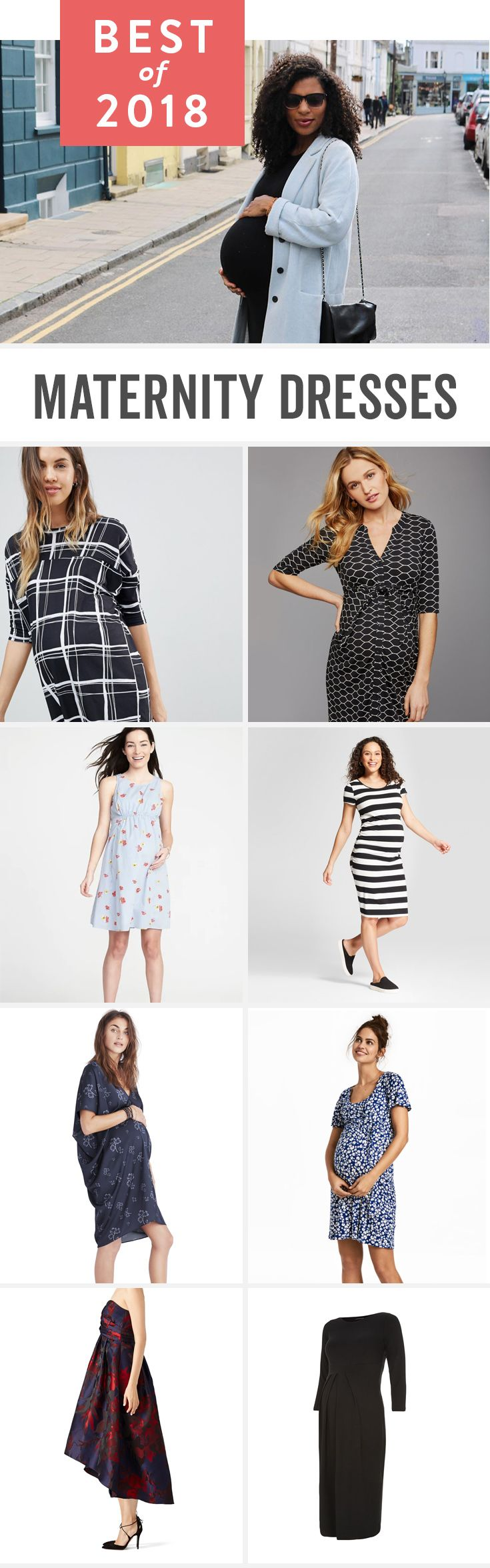 Maternity dresses to round out your pregnancy wardrobe. Summer and winter options for work, your baby shower and casual dresses for pregnancy, too.