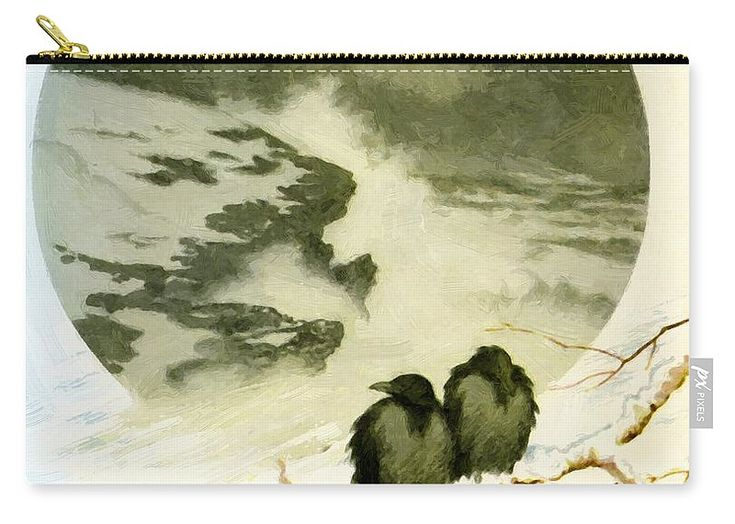 March Carry-all Pouch featuring the painting March 1890 by Kittelsen Theodor Severin