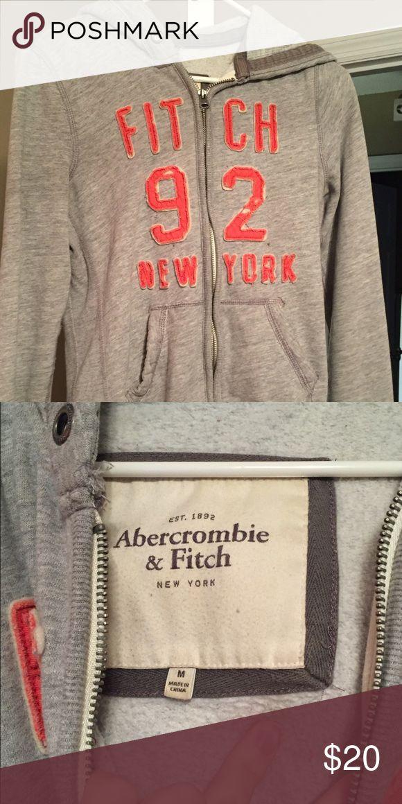 M Abercrombie and Fitch jacket Medium gray/orange a&f jacket. Jackets & Coats