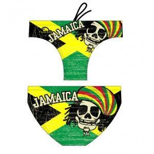 """JAMAICA SKULL VINTAGE: nuova linea VINTAGE della Turbo di cui vi proponiamo il modello Jamaica Skull! Bandiera Jamaicana (verde, nera e gialla) sullo sfondo e teschio stile """"rasta"""" in primo piano, il tutto nel nuovo effetto """"retrò"""". Doppio strado, resistente al cloro, realizzato in tessuto anti strappo. http://www.nuotomaniashop.it/nuotostore/it/costumi-uomo-nuoto-piscina-da-bagno/514-jamaica-skull-vintage-turbo-costume-nuoto.html"""
