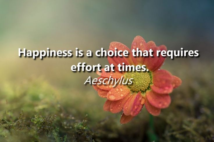 """Happiness is a choice that requires effort at times."" − Aeschylus"