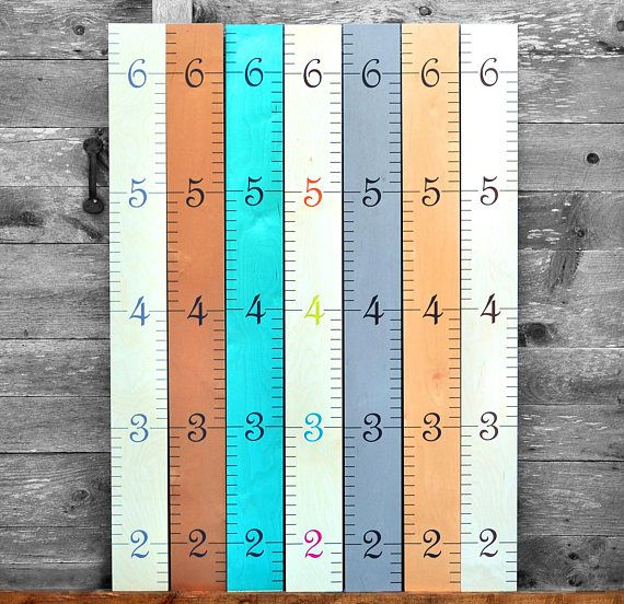 We've incorporated contemporary color trends with the simplicity of design that is a ruler growth chart. These rulers fit seamlessly into family decor. Used often, your ruler growth chart is sure to become a meaningful piece of family history! Measures: 58 tall, 5 3/4 wide by 3/8