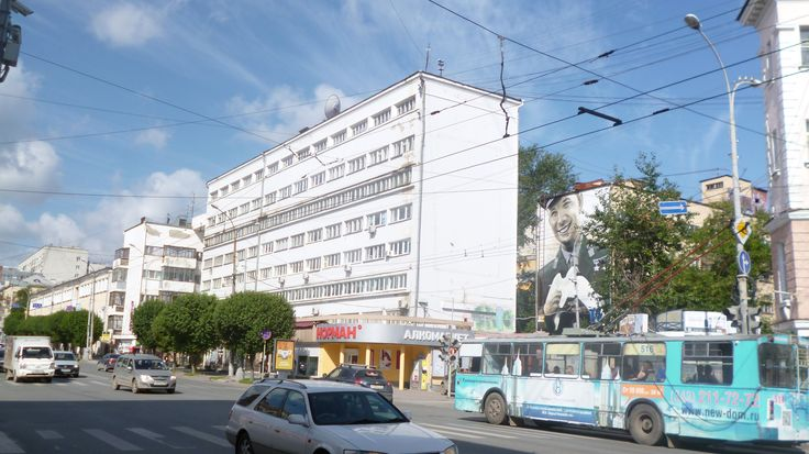 Moisei Ginzburg's 1929 Oblosoviet Buidling, Yekaterinburg, Russia