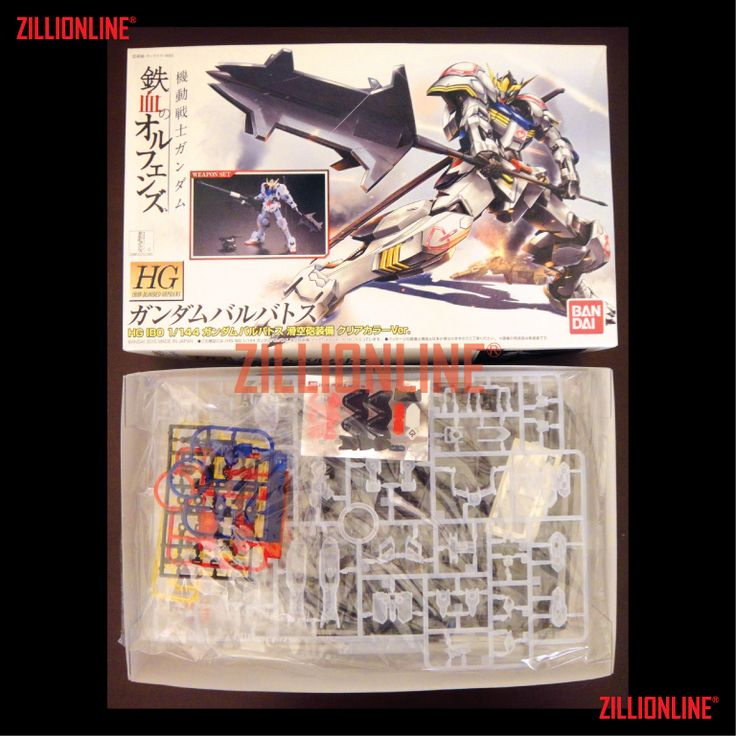 [MODEL-KIT] - [EVENT-EXCLUSIVE] HG 1/144 GUNDAM BARBATOS [LIMITED CLEAR VER.]. Item Size/Weight : 29.8 x 18.8 x 5.5 cm / 270 g* (*ITEM SIZE & WEIGHT BEFORE PACKAGED). Condition: MINT / NEW & SEALED RUNNER. Made by BANDAI.