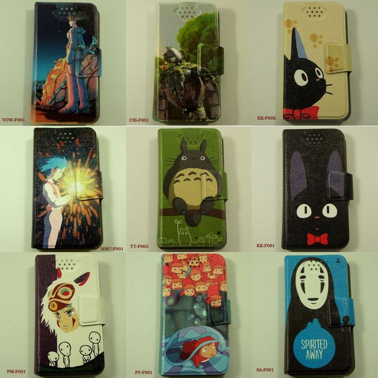 Japanese Anime Movie Studio Ghibli Japan Flip Cover Mobile Smartphone Phone Case #UnbrandedGeneric