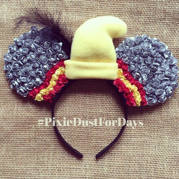 Dumbo Disney ears, dumbo ears, dumbo Mickey ears, dumbo floral ears, dumbo elephant headband by PixieDustForDays on Etsy https://www.etsy.com/listing/229582364/dumbo-disney-ears-dumbo-ears-dumbo