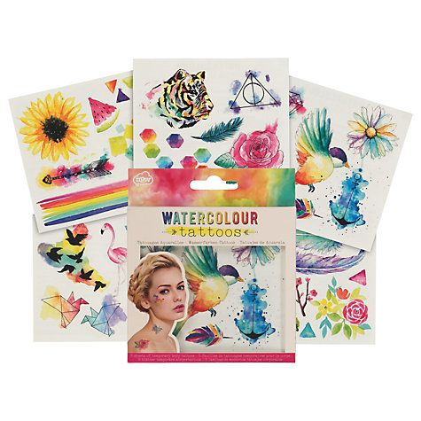 Buy NPW Watercolour Temporary Tattoos Online at johnlewis.com