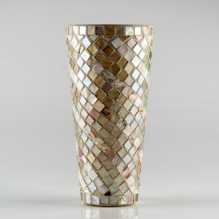 Mother Of Pearl Mosaic Vase Mosaic Pots Amp Vases