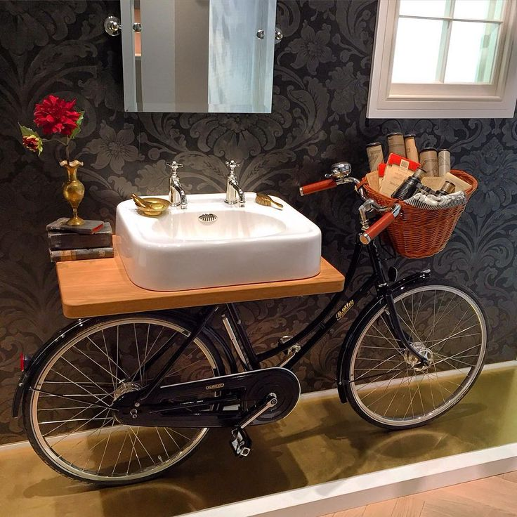 How pretty does this look? An arcade basin on a Pashley #bike, on display at the #Bathroom Brands showroom in #Dartford️ #vintage #beautiful #luxury #interiordesign https://instagram.com/bathroomboutiqueltd/