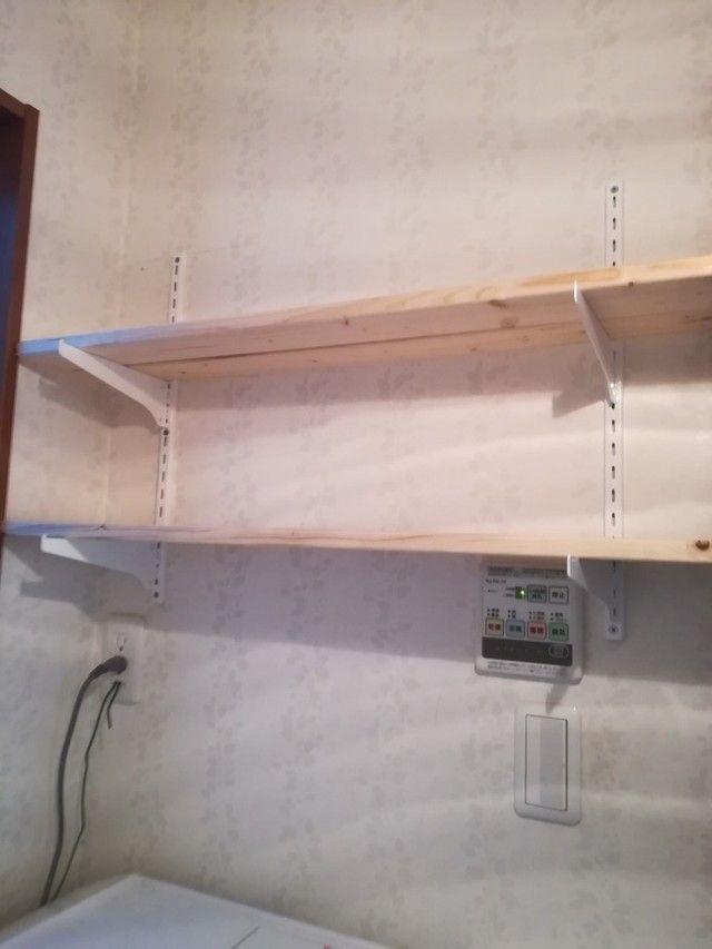 壁面棚がダイソー棚受にspf材を置くだけで完成 Limia リミア