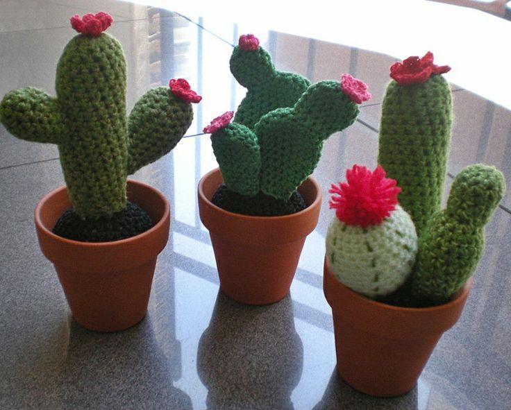 Amigurumi Cactus Crochet Pattern : 320 best cactus arboles plantas images on pinterest crocheted
