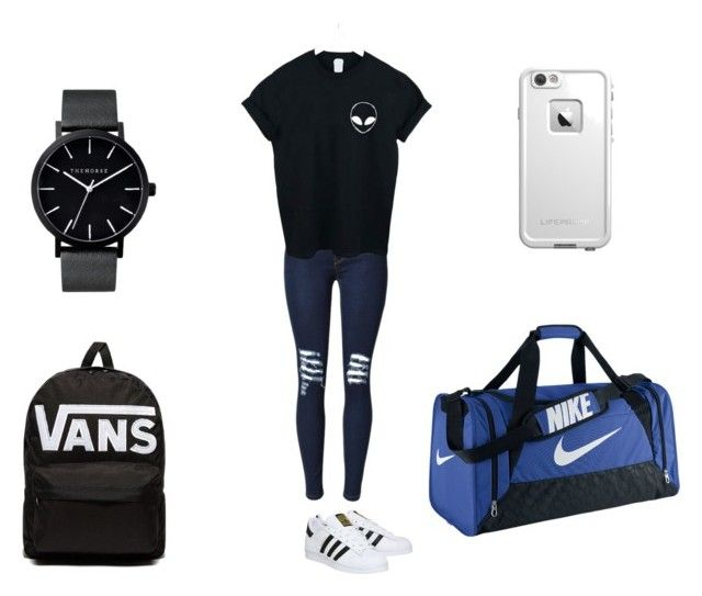 Untitled #242 by roxas-lightwood on Polyvore featuring polyvore, WithChic, adidas, NIKE, The Horse, LifeProof, Vans, fashion, style and clothing