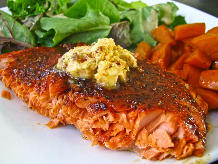 Broiled Salmon With Chipotle Lime Compound Butter | Tasty Kitchen: A ...