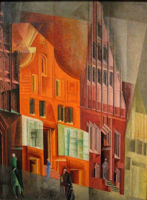 Gables I, Luneburg by Lyonel Feininger | Flickr - Photo Sharing!