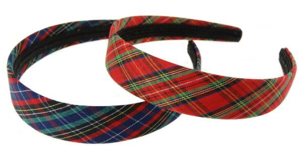 Assorted Tartan Alice Headband.