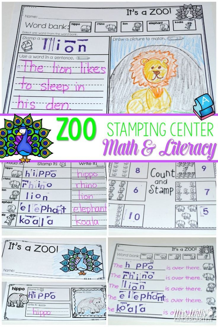 """Stamping Station and Stamping Centers are the best!  This stamping unit offers 4 different themes:  Oceans Zoo Camping Farm Animals  Each theme has 6 different options with will make differentiation a breeze. 4 ELA activities and 2 MATH activities  """"I can cards"""" make student independence simple!  NO PREP... Just Print and GO!"""