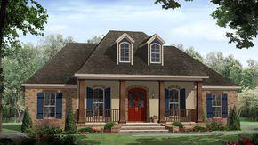 Glenmore Creole Acadian Home  from houseplansandmore.com