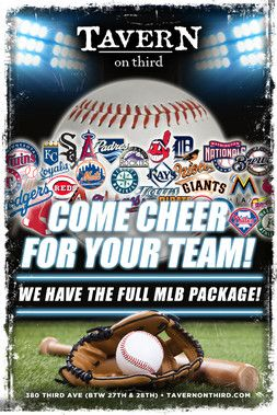 TAVERN on Third has everything you need to watch every game .... with 35 HDTV's, self pour draft tables, over 70 beers to choose from, and the hottest wait staff in NYC there is no where else to watch any games. Contact Leslie to make your game watch reservations today.