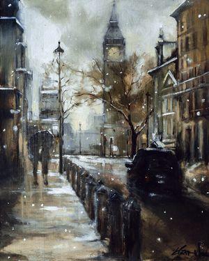 "Saatchi Online Artist Eva Czarniecka; Painting, ""Big Ben"" #art"
