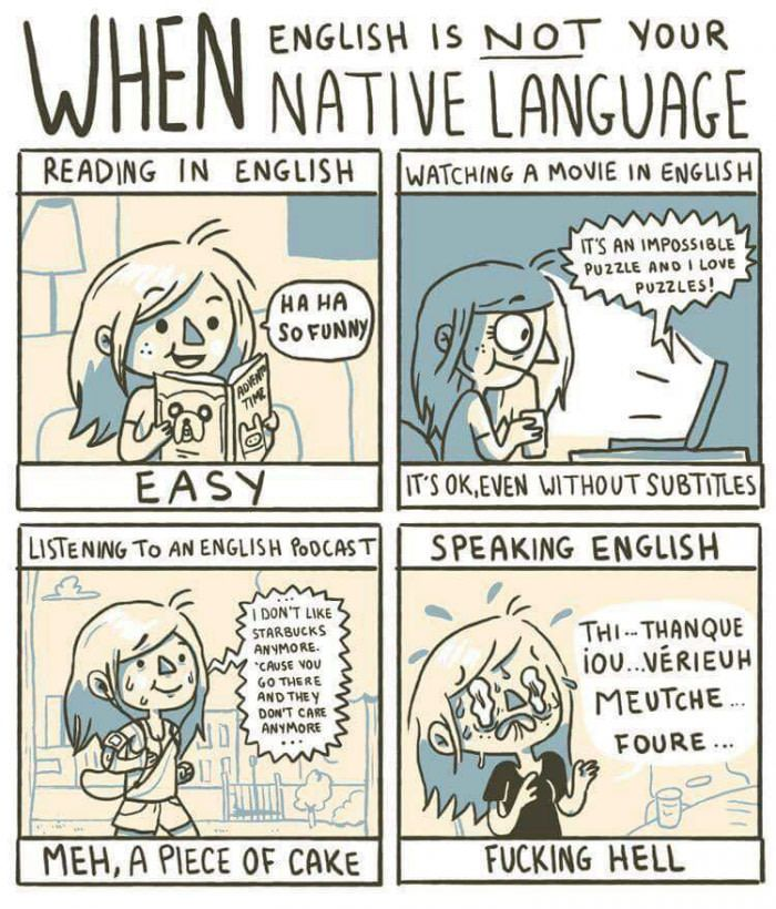 The struggle is real (With images) Language jokes