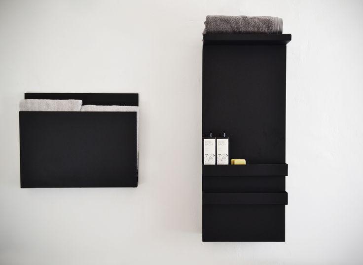 black #magazine and #shelf #Scaldasalvietteelettrico #ElectricTowelwarmers #scaldasalviette #towelwarmers #bathroom #mg12 #termoarredo