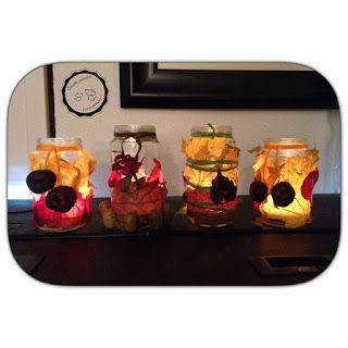Herbstliche Teelichter gestalten - Zauberzicken