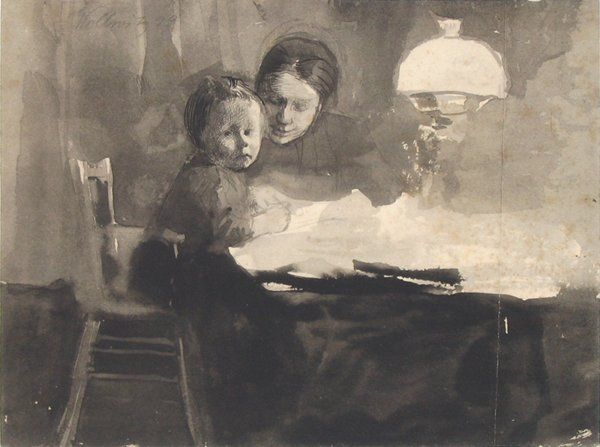 Käthe Kollwitz  1910 Drawing