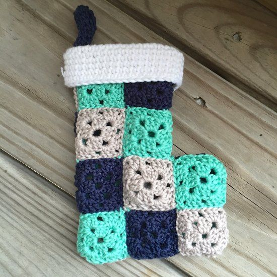 Make this crochet granny stocking ornament for your Christmas tree this year! thanks so for sharing xox