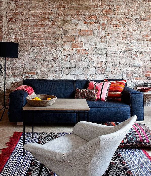 Stylish Ethnic Interior Design Living RoomSofa