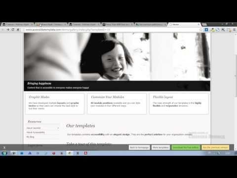 Установка и настройка шаблона для Joomla 3 - YouTube