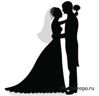 Картинки по запросу свадебные силуэты в векторе