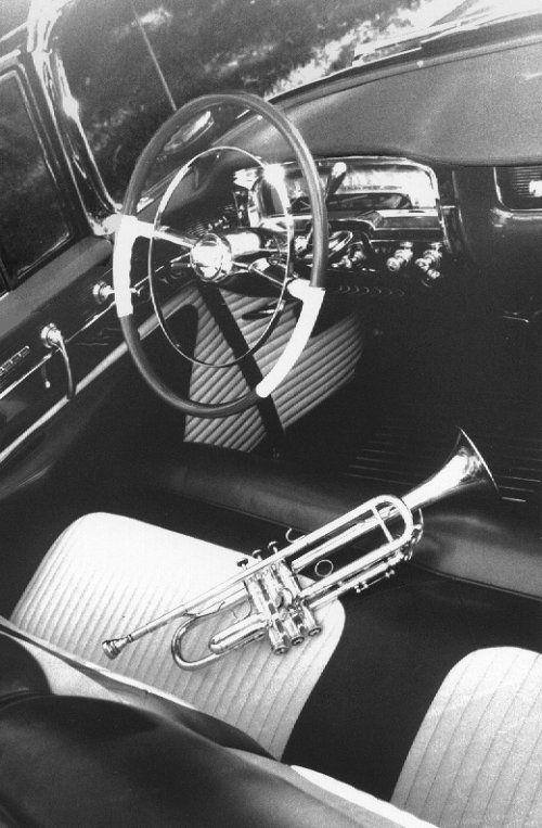 Chet Baker's 'Ax' and his 1954 Caddy, 1954 by William Claxton