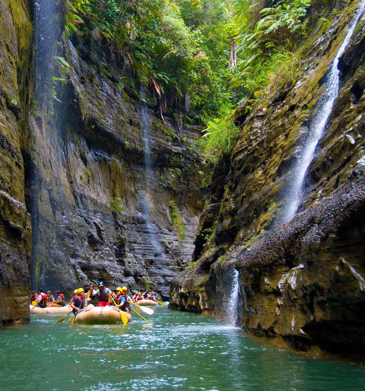 FIJI - Navua River - The river flows for 65 kilometers and is an absolutely beautiful place to raft.